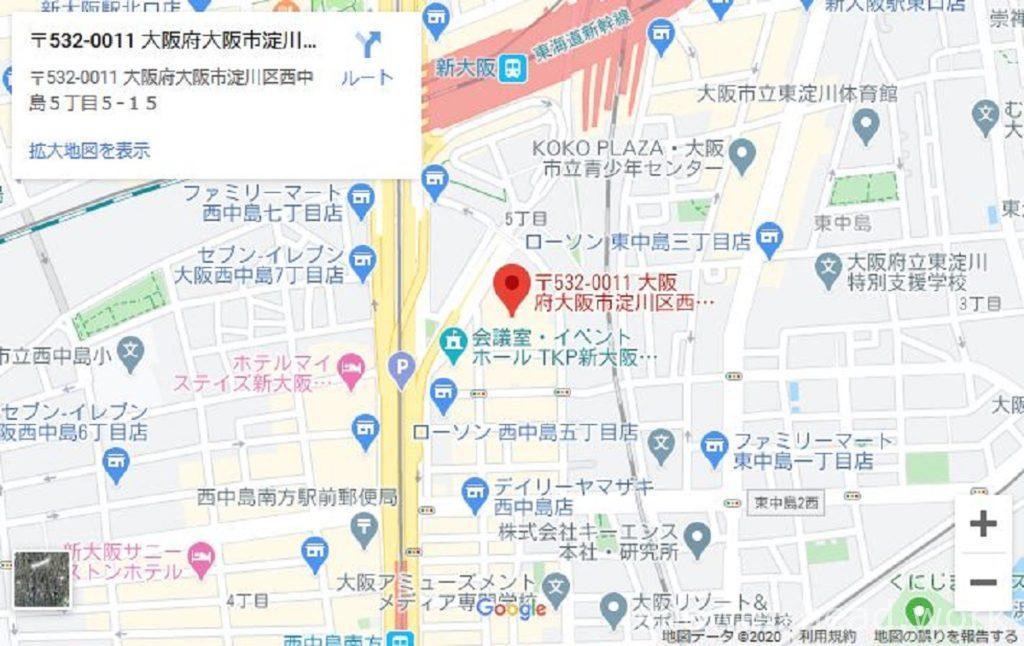 ミラブル、本社地図